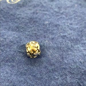Pandora 925 and Gold Letter K